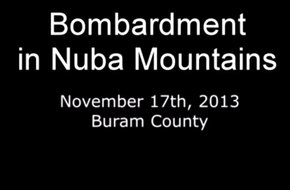 Bombardment in Nuba Mountains